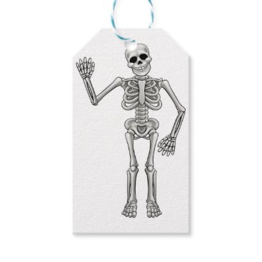 Cartoon Skeleton Gift Tags