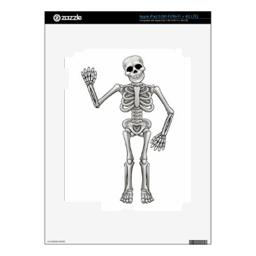 Halloween Themed Cartoon Skeleton iPad 3 Skin
