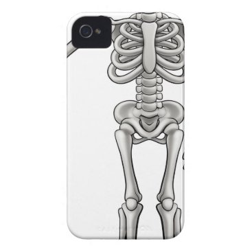 Halloween Themed Cartoon Skeleton iPhone 4 Case