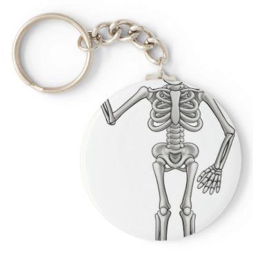 Halloween Themed Cartoon Skeleton Keychain