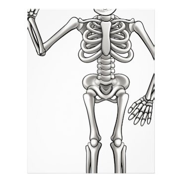 Halloween Themed Cartoon Skeleton Letterhead