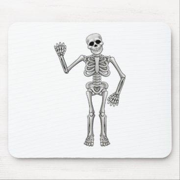 Halloween Themed Cartoon Skeleton Mouse Pad
