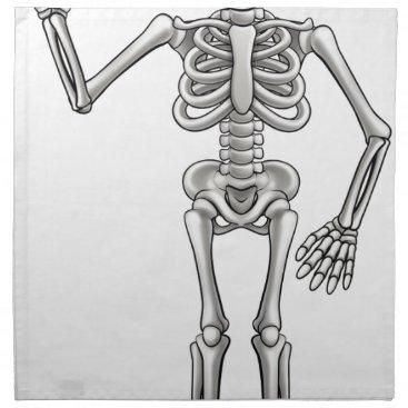 Halloween Themed Cartoon Skeleton Napkin