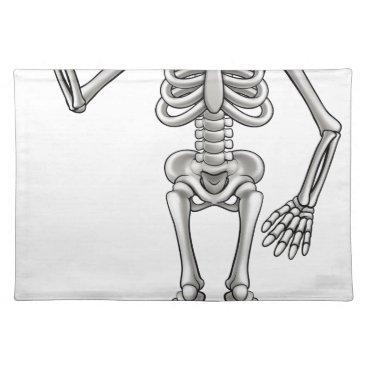 Halloween Themed Cartoon Skeleton Placemat