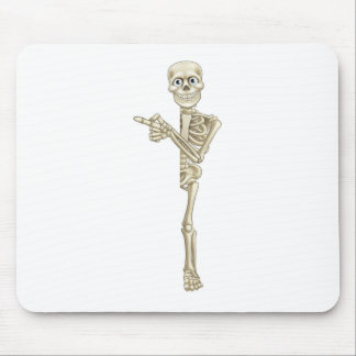 Cartoon Skeleton Pointing Mouse Pad