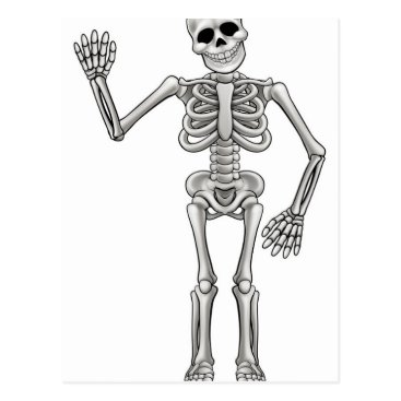 Cartoon Skeleton Postcard