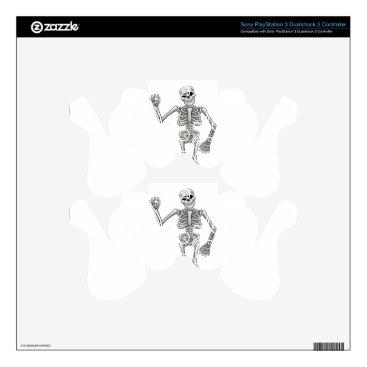 Halloween Themed Cartoon Skeleton PS3 Controller Skins