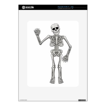 Halloween Themed Cartoon Skeleton Skin For The iPad