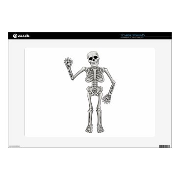 "Halloween Themed Cartoon Skeleton Skins For 15"" Laptops"
