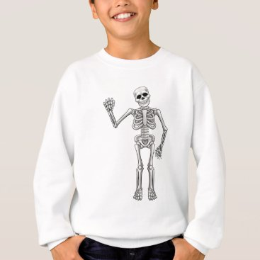 Halloween Themed Cartoon Skeleton Sweatshirt