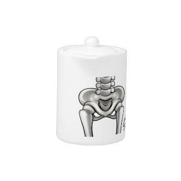 Halloween Themed Cartoon Skeleton Teapot