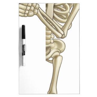 Cartoon Skeleton Thumbs Up Halloween Sign Dry Erase Board