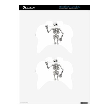 Halloween Themed Cartoon Skeleton Xbox 360 Controller Decal