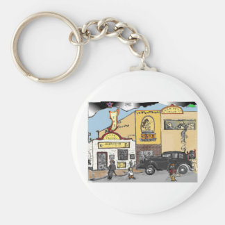 Cartoon Sketch of Roanoke's Landmark Texas Tavern Keychain