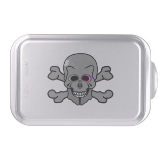 Cartoon Skull and Cross Bones Cake Pan