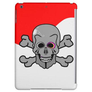 Cartoon Skull and Cross Bones Cover For iPad Air