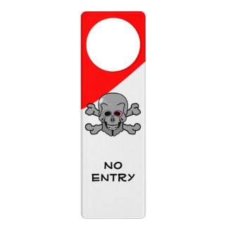 Cartoon Skull and Cross Bones Door Hanger