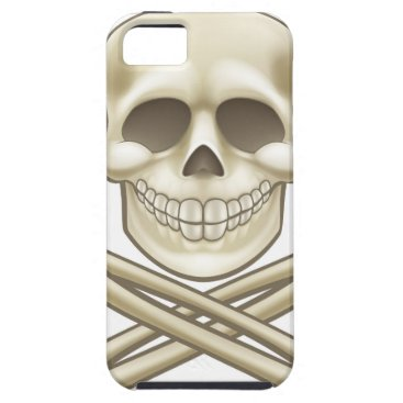 Halloween Themed Cartoon Skull and Crossbones Pirate Thumbs Up iPhone SE/5/5s Case