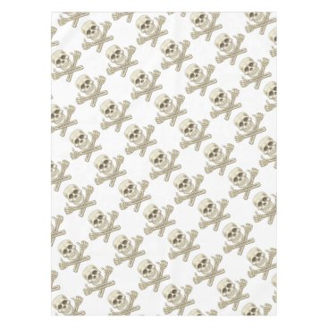 Cartoon Skull and Crossbones Pirate Thumbs Up Tablecloth