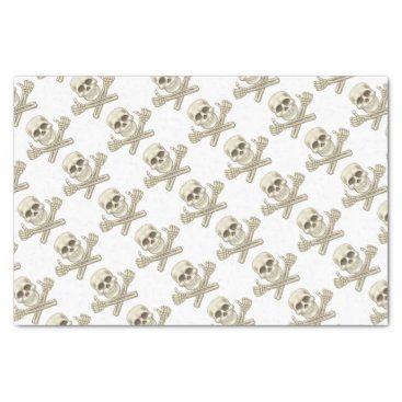 Cartoon Skull and Crossbones Pirate Thumbs Up Tissue Paper