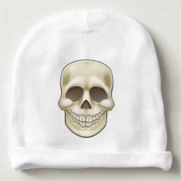 Halloween Themed Cartoon Skull Baby Beanie