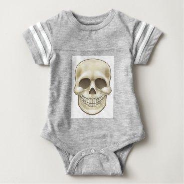 Halloween Themed Cartoon Skull Baby Bodysuit