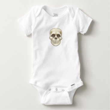 Halloween Themed Cartoon Skull Baby Onesie