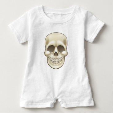 Halloween Themed Cartoon Skull Baby Romper