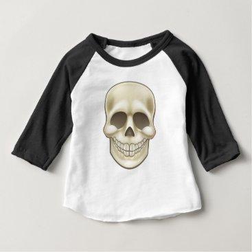 Halloween Themed Cartoon Skull Baby T-Shirt