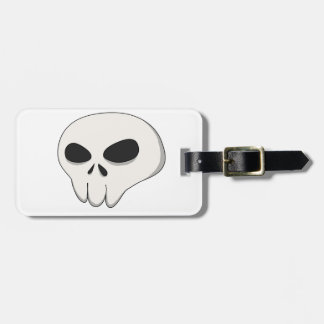 cartoon skull bag tag