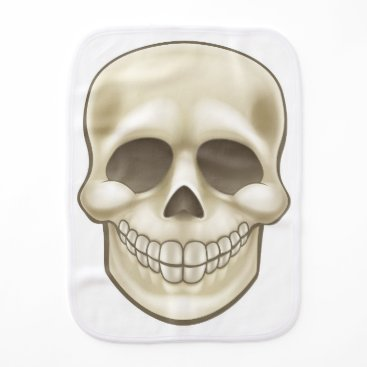 Halloween Themed Cartoon Skull Burp Cloth
