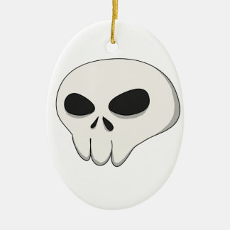 cartoon skull ceramic ornament