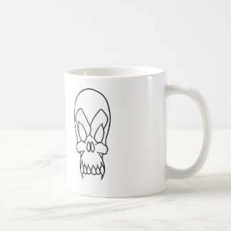 cartoon skull coffee mug