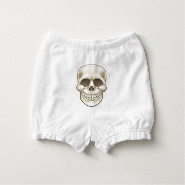 Halloween Themed Cartoon Skull Diaper Cover