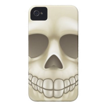 Halloween Themed Cartoon Skull iPhone 4 Cover