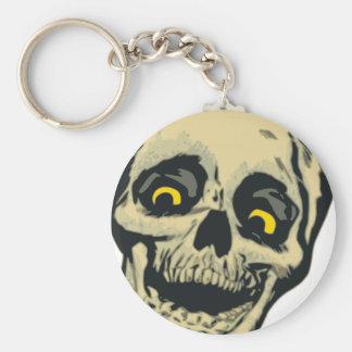 Cartoon skull keychain