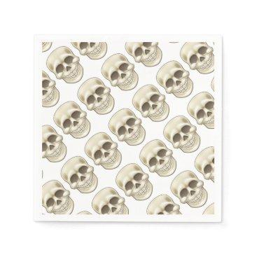 Halloween Themed Cartoon Skull Napkin