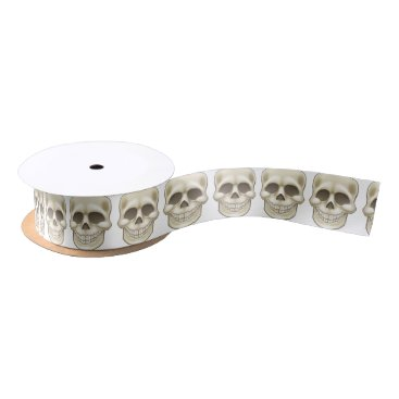 Halloween Themed Cartoon Skull Satin Ribbon