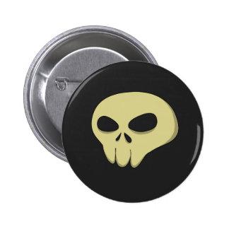 cartoon skull sepia dark button