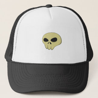 Cartoon skull sepia trucker hat