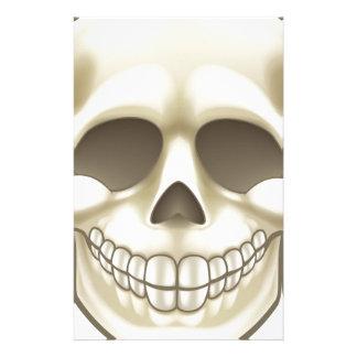 Cartoon Skull Stationery