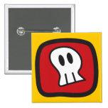 Cartoon Skulls & Bones Halloween Fun Party Button