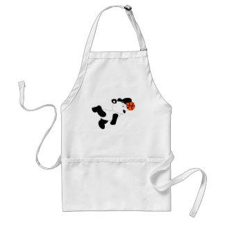 Cartoon Slam Dunking Panda Adult Apron
