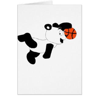Cartoon Slam Dunking Panda Greeting Card