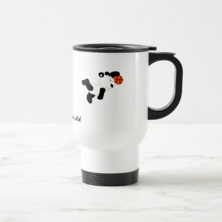 Cartoon Slam Dunking Panda Travel Mug