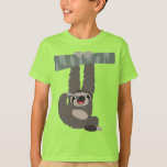 Cartoon Sloth Dangling From a Branch Kids T-Shirt