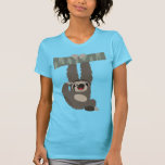 Cartoon Sloth Dangling From a Branch Women T-Shirt