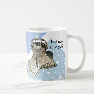 Cartoon Sloth Nap Time Classic White Coffee Mug
