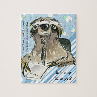 Cartoon Sloth Nap Time Jigsaw Puzzle
