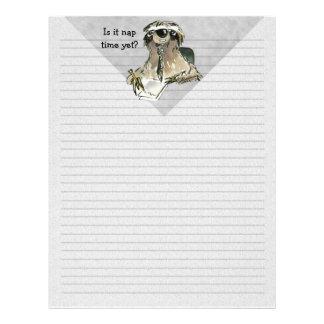 Cartoon Sloth Nap Time Letterhead Template